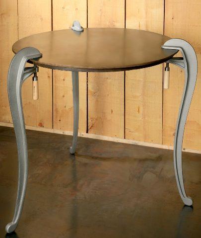 classic tool becomes modern table leg
