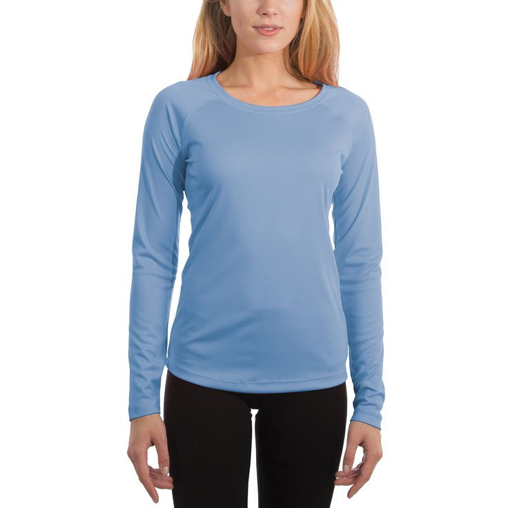 Vapor Apparel Women's UPF 50+ Solar Performance Long Sleeve T-Shirt X-Large Columbia Blue