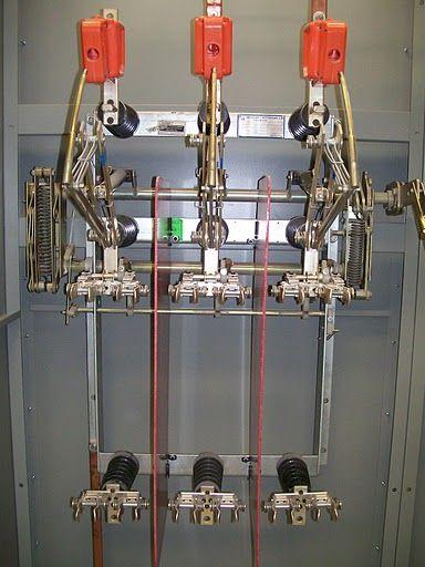 Desconectador tripolar operación con carga clase 15 kv  630a  tipo  dual , con portafusibles...modelo LDTP 15 / 068 C K N