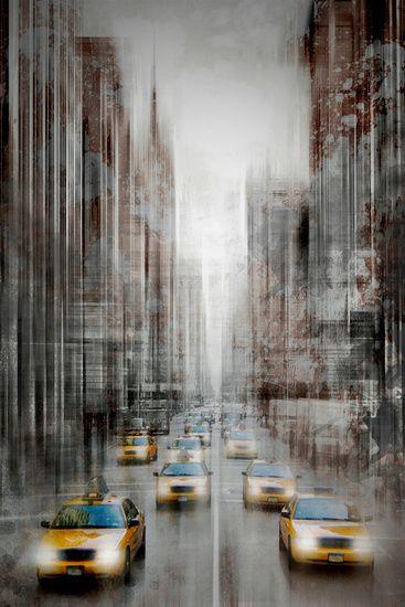 Neu in meiner Galerie bei OhMyPrints: City-Art 5th Avenue #NYC #Manhattan  #USA #urban #modern #dekorativ #blur #Kunst #wallart #5thAvenue #USA #art #decorative