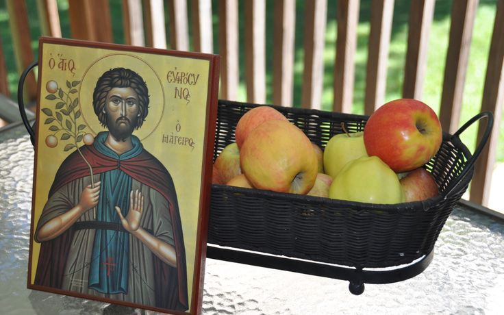 Eating Apples with Saint Euphrosynos