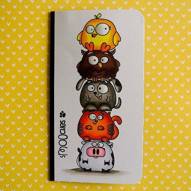 Smooches card by Joyce Heinen- Paper Smooches - Chubby Chums