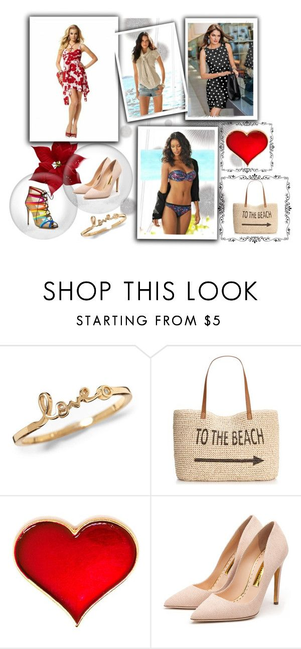 Thinking of Summer by nellasshop on Polyvore featuring Rupert Sanderson, Salvatore Ferragamo, Style & Co., Komar, women's clothing, women's fashion, women, female, woman and misses