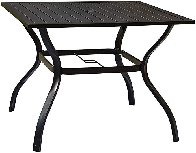 Festival Depot Patio Outdoor Furniture, Outdoor Patio Dining Table With Umbrella Hole