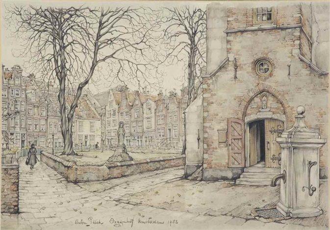 Begijnhof, Amsterdam by Anton Pieck