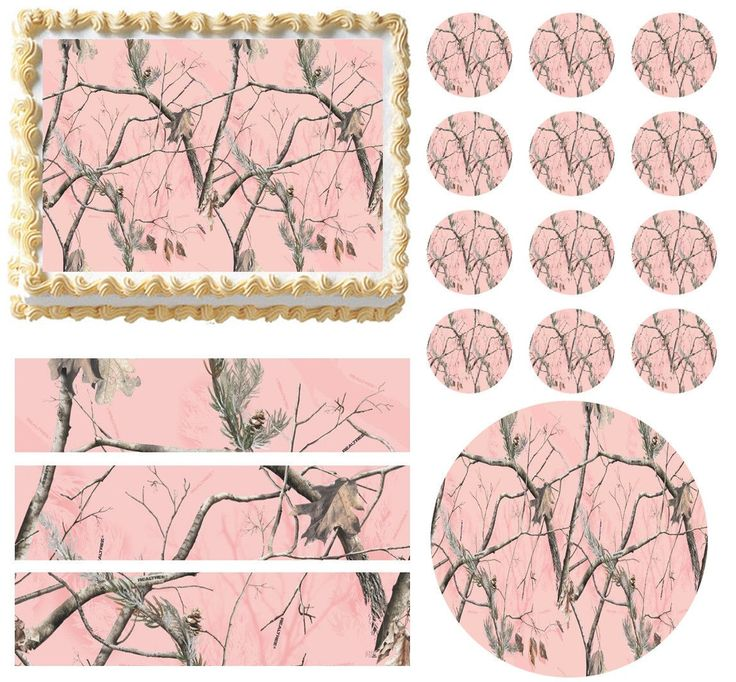 PINK REALTREE REAL TREE AP CAMO PINK Print Edible Cake Topper - All Sizes!  picclick.com