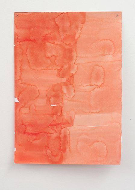Anya Henis, Raw Feels (detail: install of watercolour), 2009