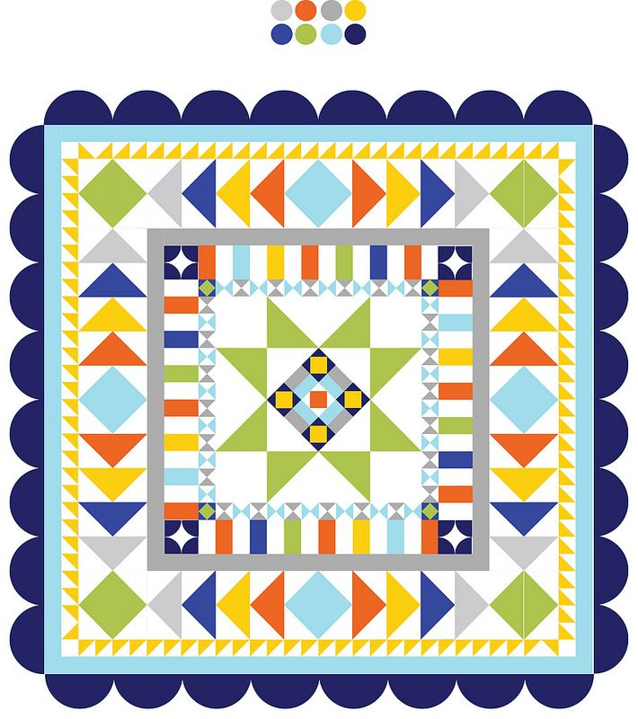 Knotty Gnome Medallion Quilt.  I am in LOVE with this pattern.