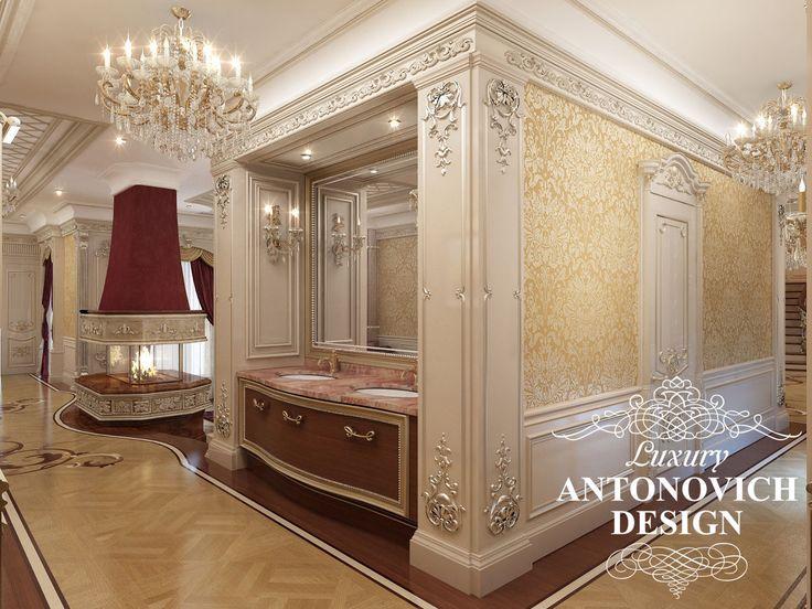 Элитный дизайн коттеджа с роскошным холлом в классическом стиле от Luxury Antonovich Design
