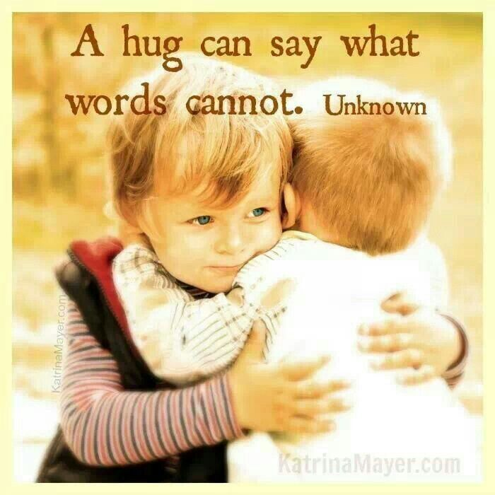 Sent this virtual hug to a friend... Friends quotes