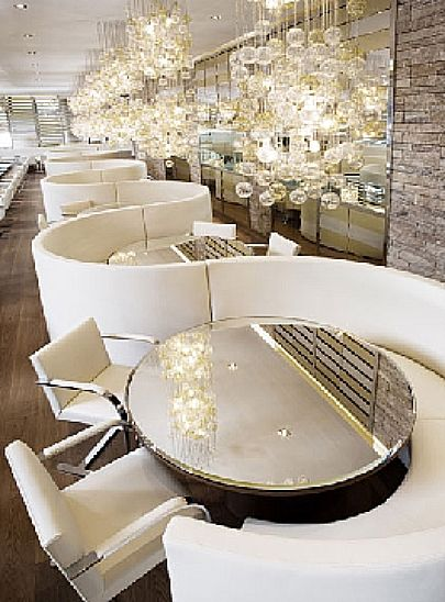 Gold In The Fall Restaurant And Bar Milan Italy Designed By Dolce Gabbana Luxury Hotel Interior Designs