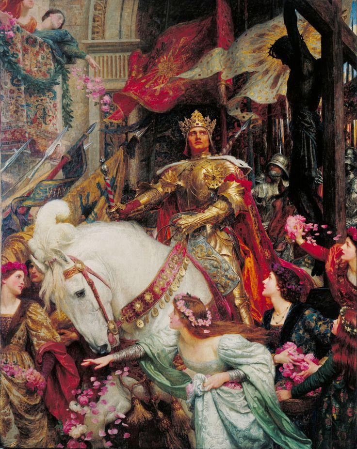 Pre Raphaelite Art: The Two Crowns - Frank Bernard Dicksee