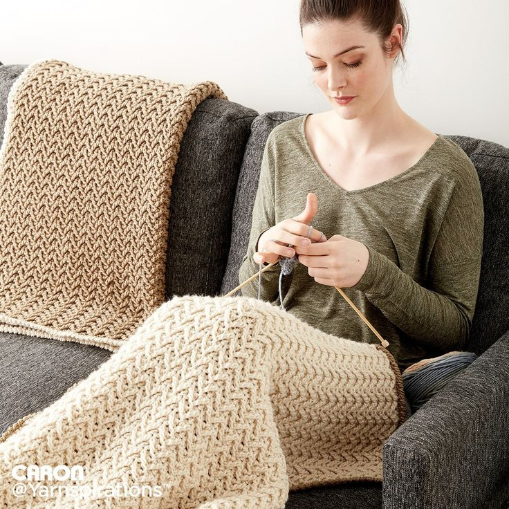 Crochet Texture Lap Blanket | Crochet | Charity | Let's Make a Difference | Free Pattern | Yarnspirations