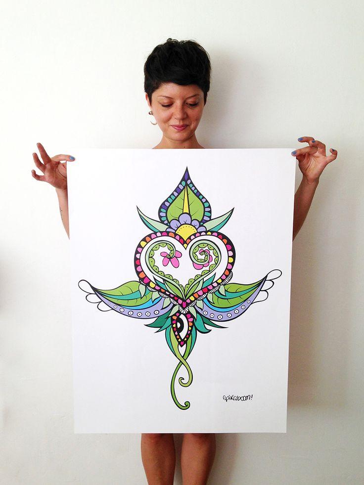 Poster Brote Corazón -2014- http://epikaboom.tumblr.com/