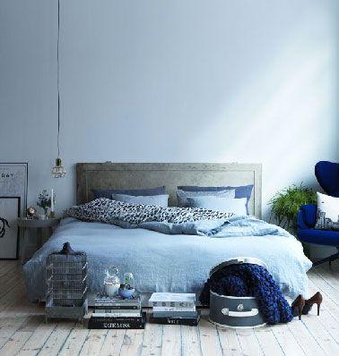 Déco inTérieur BLeu et Gris | Dans une chambre, bleu et gris dans des nuances pastel déclinés pour ...