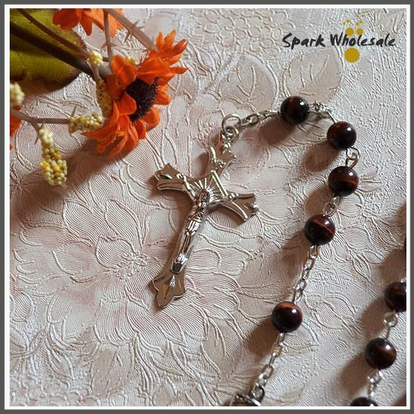 Catholic Precious Red Tiger Eye Rosary Religious Natural Stone Beads Jesus Cross Pendant Rosary Necklace   Tag a friend who would love this!   FREE Shipping Worldwide   Buy one here---> https://catholicnecklace.com/products/catholic-precious-red-tiger-eye-rosary-religious-natural-stone-beads-jesus-cross-pendant-rosary-necklace/ catholicnecklace