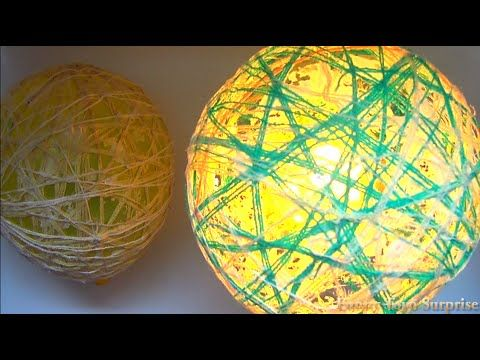 DIY Lamp Balloon Glued with Sewing Thread, Globo con Candy, 喜 , Creative Video from Funny Toyo Surprise. Don't forget to like, share and subscribe for more v...