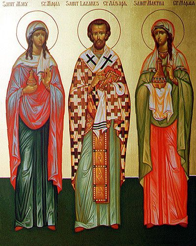 My favorite family of saints: Martha, Mary and Lazarus of Bethany