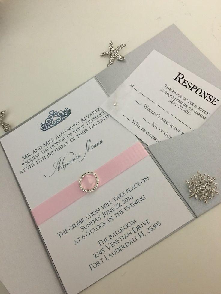 Best 25+ Sweet 16 invitations ideas on Pinterest | Pink ...