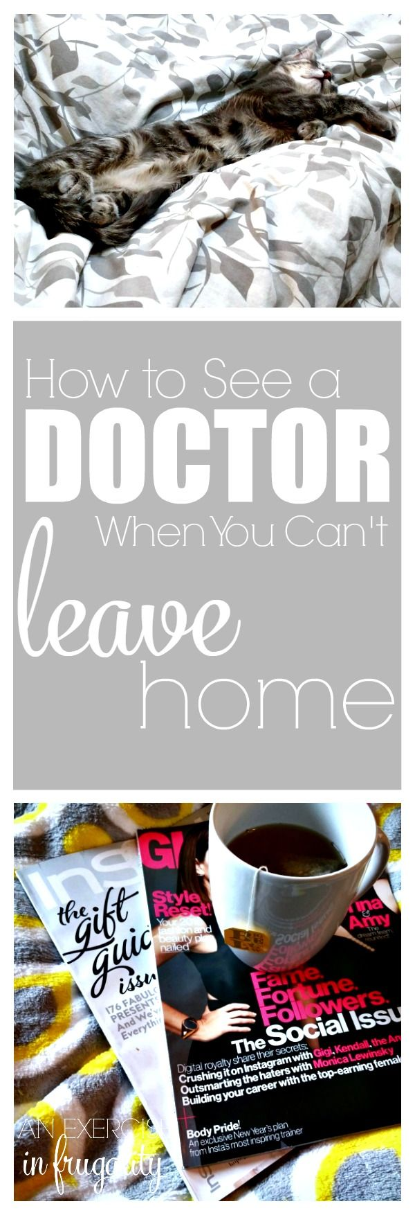 How to See a Doctor When you can't Leave Home- If you or your kid is sick, and you don't want to sit in a waiting room full of flu germs, an online doctor visit might just be your saving grace! I'm sharing the story today of when my kitten clawed me in the eye and I saw a doctor without leaving home, and it was so easy. Save this pin for when you are sick or injured and use the coupon code in the blog post for 25% off your first visit with Amwell! #ad #health #wellness #momhacks