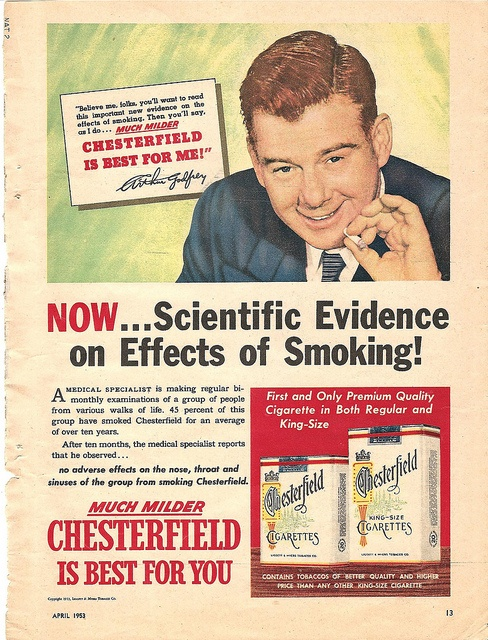 1953 arthur godfrey chesterfield cigarette ad by CapricornOneVintage, via Flickr