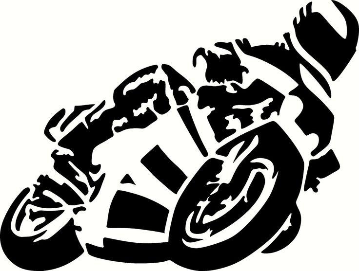 Motorradrennfahrer Vinyl Ausschnitte Aufkleber, Sticker - wählen Sie Ihre Farbe und sortieren