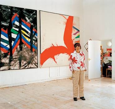 Sandra Blow RA in her studio, 2006.