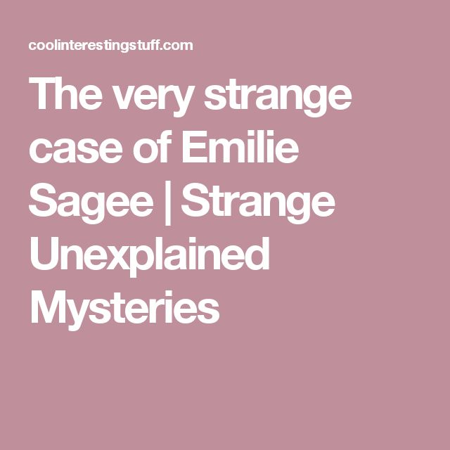 The very strange case of Emilie Sagee | Strange Unexplained Mysteries