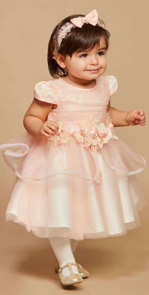 0e24955978b08 ROMANO PRINCESS Peach Tulle Baby Flower Girl Dress. This party and special  occasion
