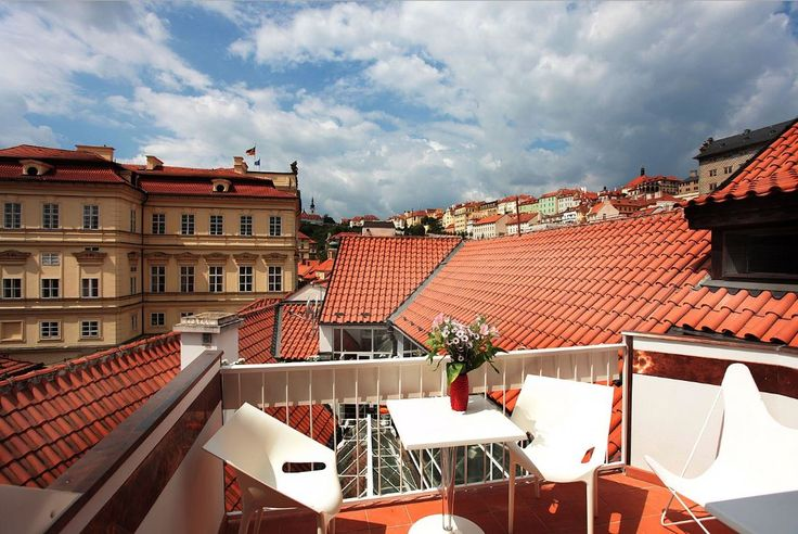 Have you already visited our terrace? There is a stunning view across the red roofs, so typical for Prague. #view #terrace #rooftop #‎HotelSAX‬ ‪#‎ResidenceJamesHouse‬