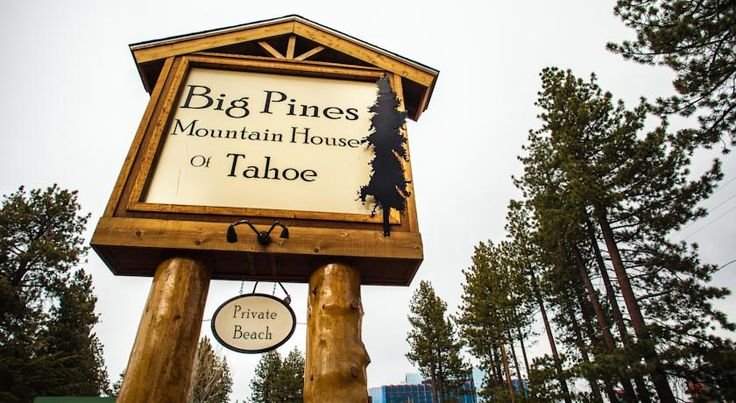 Big Pines Mountain House South Lake Tahoe Offering private beach access and a free continental breakfast every morning, this pet-friendly motel in South Lake Tahoe, California is steps from the shopping, dining and entertainment of Heavenly Village.