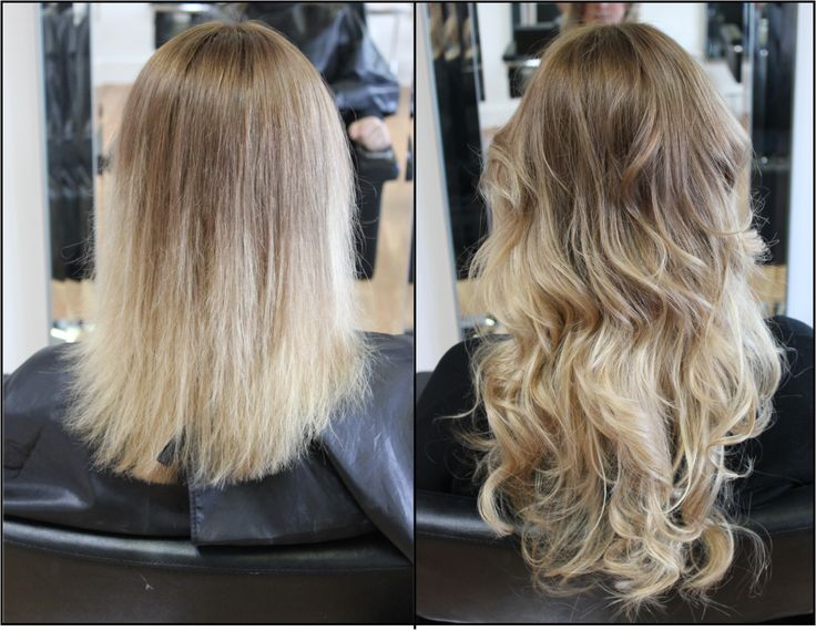 Celebrity Brandz Hair Extensions Before & After