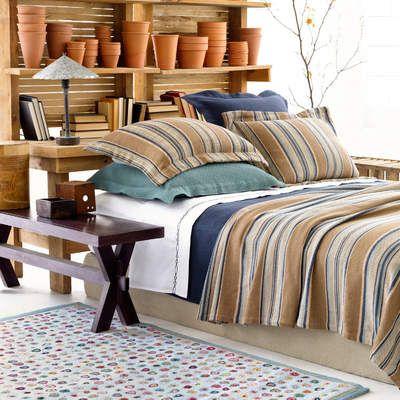 Terra Cotta Pots Blue Bedding Home Blue Heron