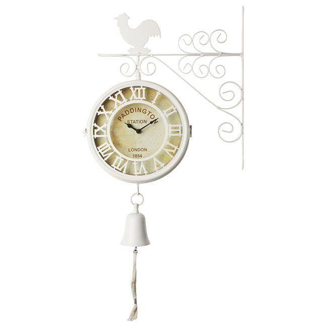 Ρολόι Τοίχου Σταθμού Εκρού με καμπάνα  Τιμή: €31,80 http://www.lovedeco.gr/p.Roloi-Toichou-Stathmoy-Ekroy-me-kampana.867398.html