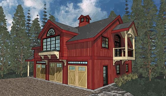 Carriage House PineRidge Timberframe