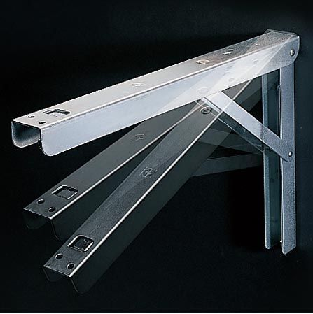 folding shelf brackets to make folding desk, this would be fantastic for extra crafting space.