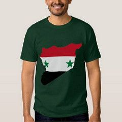 (Syria Flag Map Tee Shirt)...
