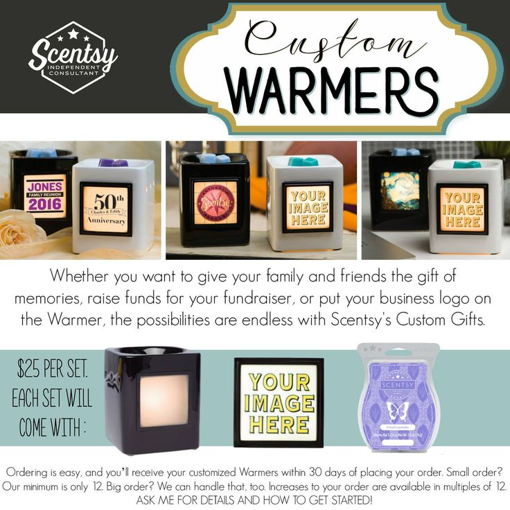 Personalized Scentsy Warmers | Wedding Tips and Inspiration
