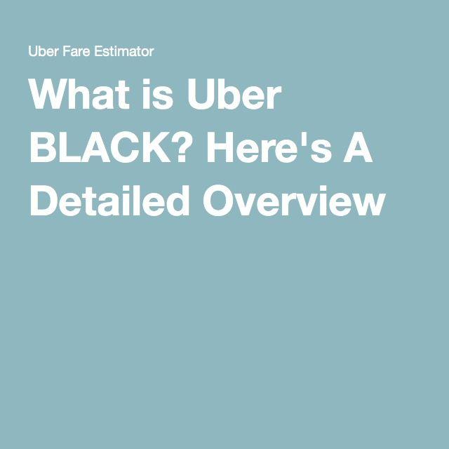 Uber Black An alternative to limos