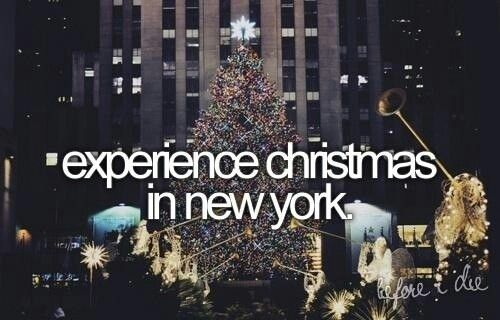 Experience Christmas in New York!  And new years!