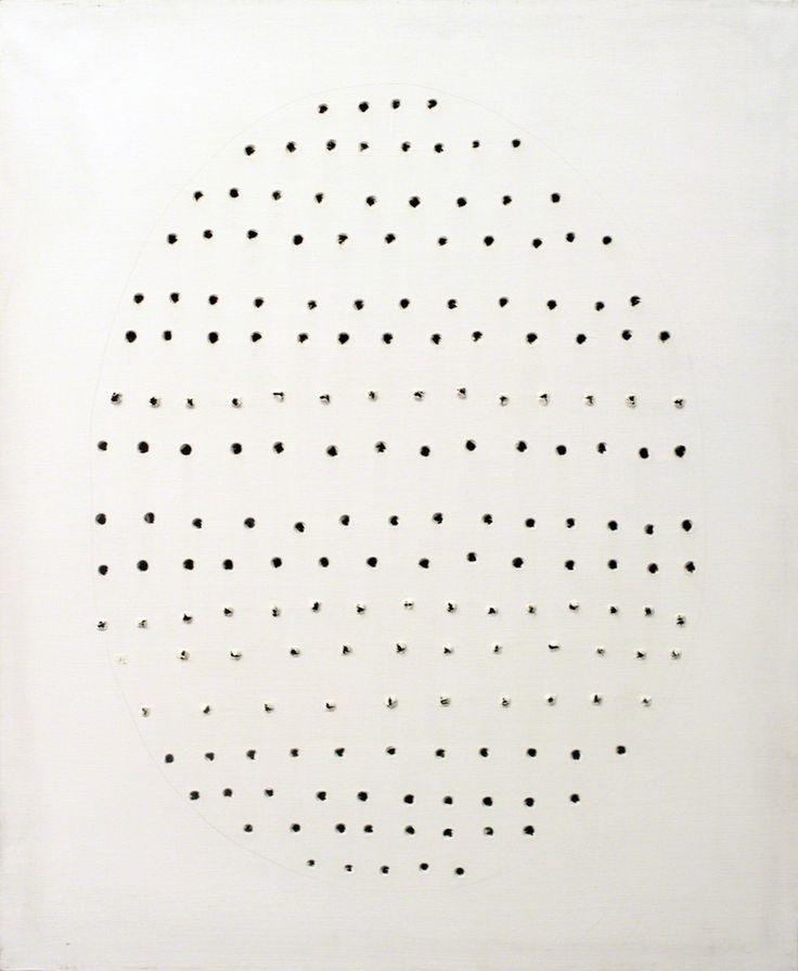 Lucio Fontana, Concetto Spaziale, 1968. Waterpaint and pencil on canvas 82x65cm