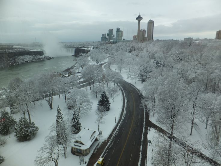 A beautiful Fallsview from the Fallsview Restaurant in the Sheraton on the Falls at Falls Avenue Resort