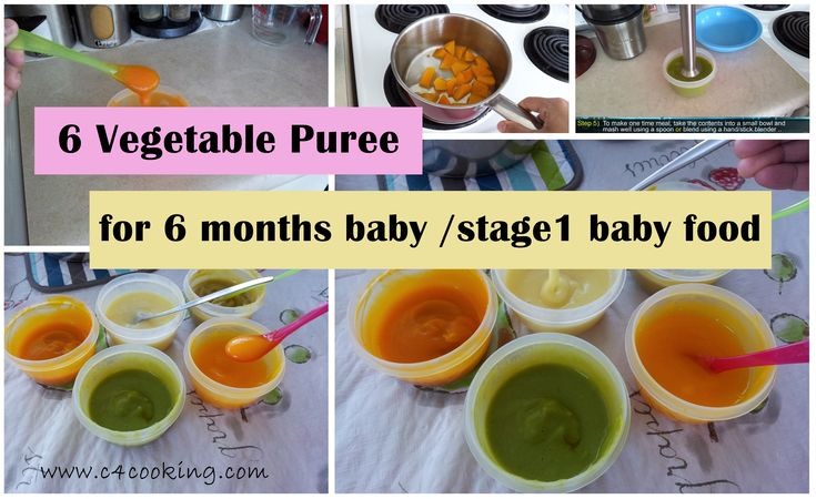 6 Vegetable Purees for 6 months baby ( stage1 - homemade babyfoodrecipes)