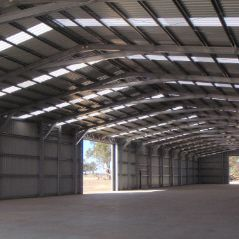 80 metre x 20 metre c-section commercial storage shed.