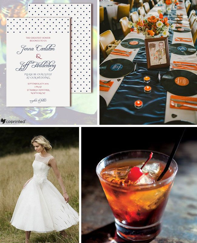 Wedding Inspiration Mad Men 1950's Inspiration Board