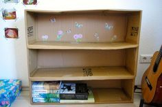 Regal aus Karton inklusive Anleitung / Shelf made from cardboard box including tutorial / Upcycling