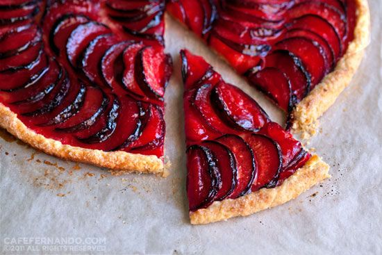 Chez Panisse 40th Anniversary recipe share:  Plum Galette. Oh Gosh, how gorgeous is this?  The recipe is remarkably easy (typical of great food - let the flavors speak for themselves).  If you don't have six hundred dollars and can't get a reservation at the number one restaurant in the US - it is great to have their recipe!!!