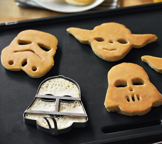 Star Wars Pancake Molds / A long time ago in a galaxy far, far away, a Jedi Kitchen Master used the Force to create three pancake molds in honor of his favorite galactic hero and villains: Yoda, Darth Vader and a stormtrooper. http://thegadgetflow.com/portfolio/star-wars-pancake-molds/