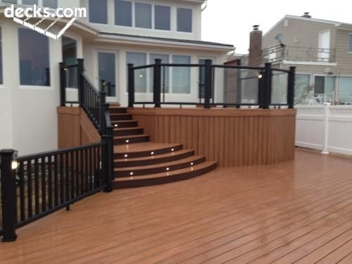 130 best images about deck steps porch steps and other for High deck ideas