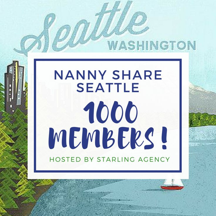 Congratulations Nanny Share Seattle! Seattle's best nanny share connection page. Starling Agency is honored to be Seattle's leading nanny share resource! #seattlenannylife #seattle #nannyshare #nannylife #nanny